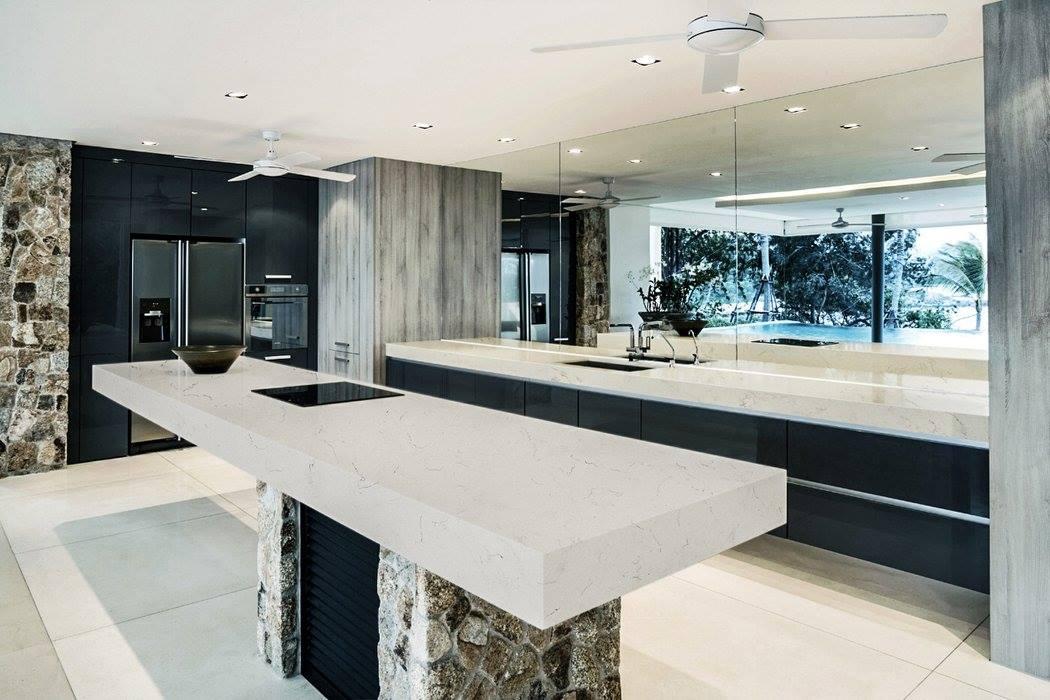 carrara quartz kitchen