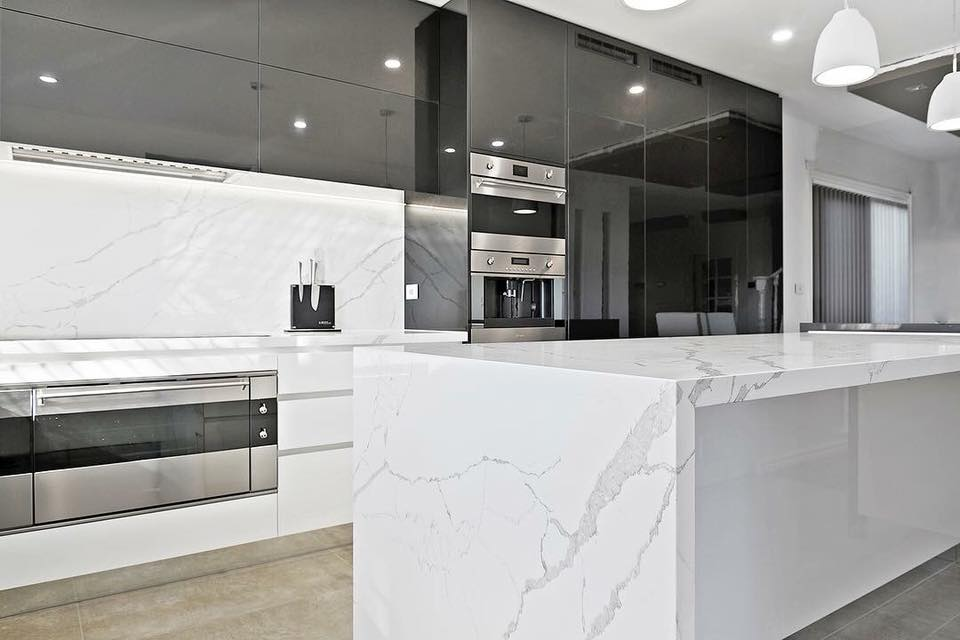 Calacatta Storm Quartz Marable Sydney Marble Slab House